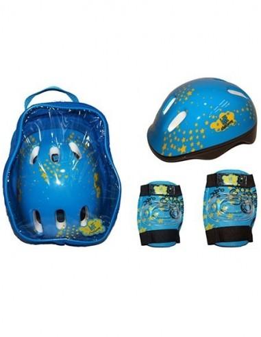 Pack Protecciones y Mochila KRF Azul