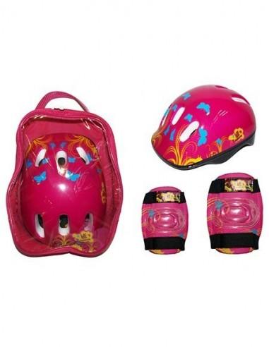Pack Protecciones y Mochila KRF Rosa