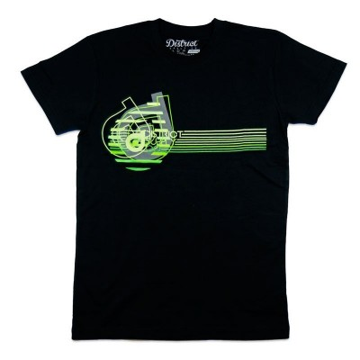Camiseta District Neon Negra