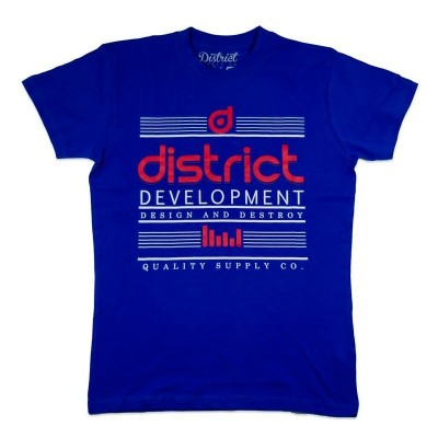 Camiseta District Destroy Azul