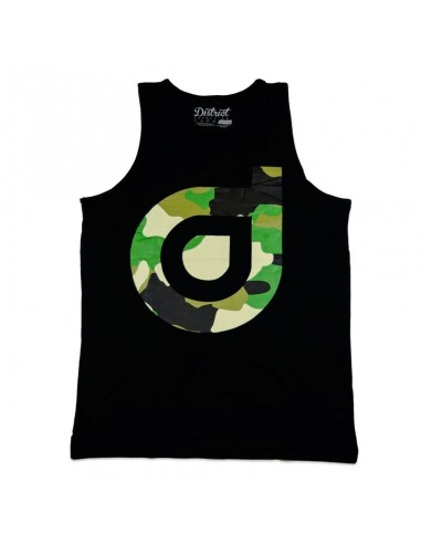 Camiseta Tirantes District Hidden Negra