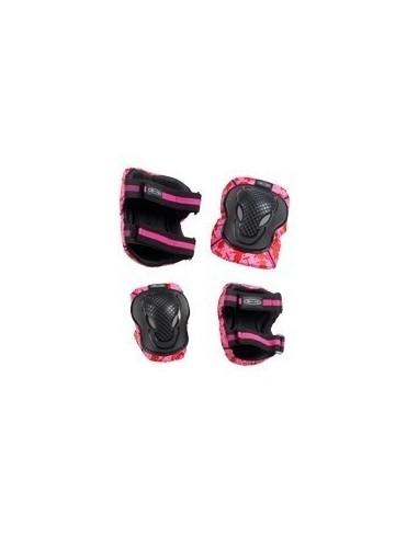 Pack Protecciones Infantiles Micro Rodilleras Y Coderas Rosas