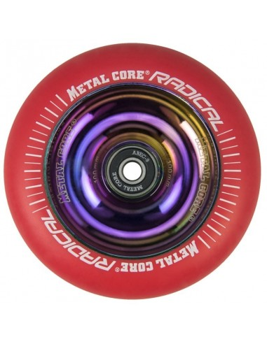 Rueda Scooter Radical Metal Core Rainbow Fluorescente 100mm