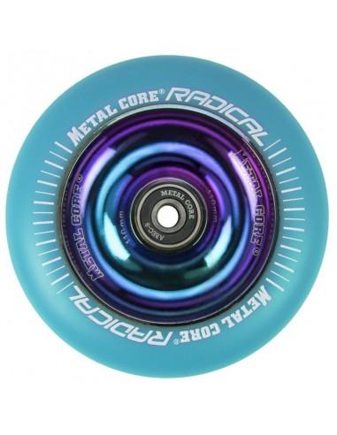 Rueda Scooter Radical Metal Core Rainbow Fluorescente 110mm